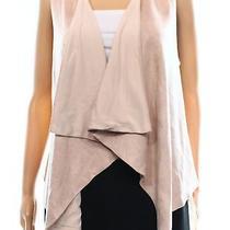 Paper Crane New Blush Pink Women's Size Medium M Vest Faux Suede Jacket 769 Photo