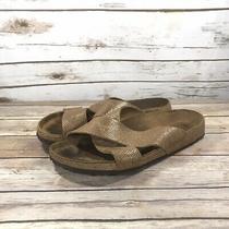 Papillio Birkenstock Sandals Slides Flip Flops Womens Size 9 Slip on Metallic Photo