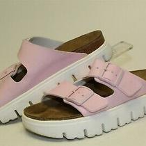 Papillio Birkenstock Womens Size 8 39 Strappy Slides Platform Sandals Shoes Photo