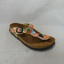 Papillio by Birkenstock Bright Floral Thong Sandals Sz 39 Eu / Men 6 Wmn 8 Photo