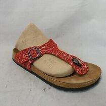 Papillio by Birkenstock Red Leather Thong Sandals Sz 39 Eu / Men 6 Wmn 8 Photo