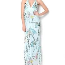 Papillon Butterflies Maxi Dress Size L/aqua Photo