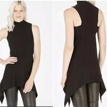 Parker Black Jax Knit Tunic Sleeveless Sweater Short Dress Drop Hem  295 New M Photo