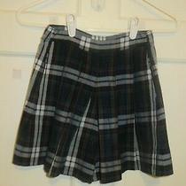 Parker Blue & Green Plaid Girls School Uniform Skirt Size 6 Photo
