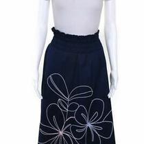 Parker Blue Na a-Line Skirt Size L Photo