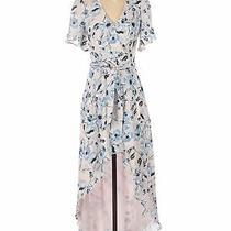Parker Blue Women White Casual Dress Xs Photo