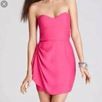 Parker Bright Pink Strapless Mini Dress Xs Photo
