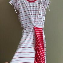 Parker Cotton Summer  Rushed Striped Dress Size Small Retail 168 Photo