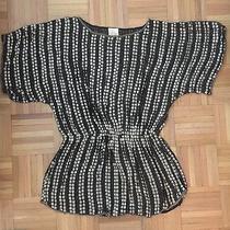 Parker Gorgeous Silk Embellished Blouse Tunic Size Medium M Trendy Photo