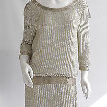 Parker   Ivory / Silver Beaded Dress. Size Small. Brand New With Tags Photo