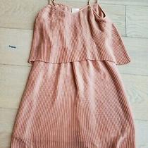 Parker Jett Dress Mauve Silk Pleats Women's Size S Photo