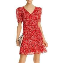 Parker Krislyn Silk Dress in Red Aurora Size 4 (New With Tags) Photo
