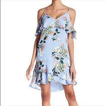 Parker Light Blue Floral Dress Size Medium Photo