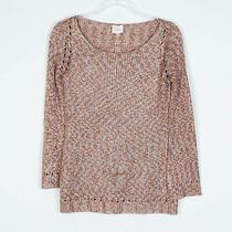 Parker Metallic Long Sleeve Sweater Women's Sz Xs Photo