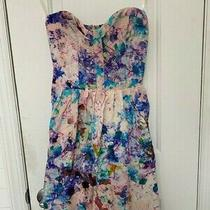 Parker New With Tags Strapless Floral Mini Dress in Pink Size L Photo