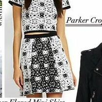 Parker Nina Crop Top M and Kahlen Skirt Xs Msrp 418 Photo
