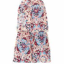 Parker Pink Floral-Print Women's Size Xs Back-Zip Romper Silk 298- 727 Photo