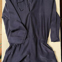 Parker Silk Shorts Top One Piece Xs Navy Blue Great Condition Photo