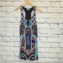 Parker Size Xs Navy & White Print Dress Photo