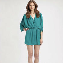 Parker Teal Dolman Sleeve Dress Photo