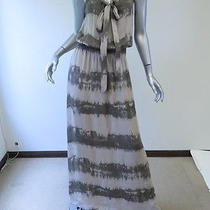 Parker Tie Front Maxi Dress Olive & Gray Tie Dye Size Medium 286 Gently Worn Photo