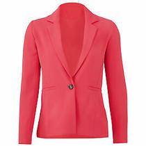 Parker Women's Blazer Bright Pink Size Xl One Button Notched Crepe 354- 474 Photo