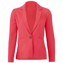 Parker Women's Blazer Pink Size Medium M One Button Notch Collar 354- 321 Photo