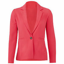 Parker Women's Blazer Pink Size Xl One-Button Notch-Collar Crepe 354- 207 Photo