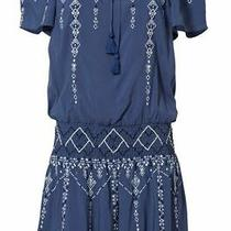 Parker Women's Romper Blue Size Small S Off-Shoulder Embroidered 288- 014 Photo