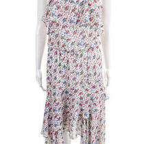 Parker Women's Spaghetti Strap Floral Shift Dress Pink Red Size Small Photo