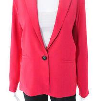 Parker Womens Bo One Button Blazer Jacket Pink Size Large 11140431 Photo