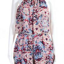 Parker Womens Catamaran Floral Print Silk Romper Pink Size Small 10304494 Photo