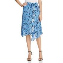 Parker Womens Collins Blue Silk Blend Floral Print Midi Skirt 4 Bhfo 0607 Photo