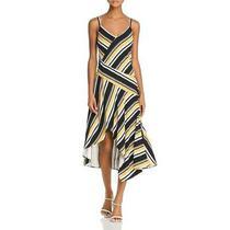 Parker Womens Selma Yellow Striped v-Neck Maxi Dress 4 Bhfo 6927 Photo