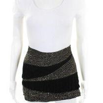 Parker Womens Silk Beaded Design Micro Mini Skirt Black Size Small Photo