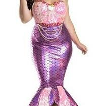 Party King Blushing Mermaid Costume 5x Nip Plus Size Photo