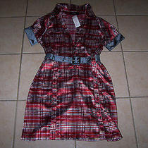 Pasha Blush Women's Red/gray/white Dress Size M Photo