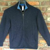 Patagonia 100% Cashmere Thick Heavy Knit Full Zip Sweater Jacket Navy/blue Xl Photo