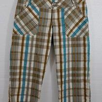 Patagonia 4 Watergirl Pedal Pusher Pants Plaid Seersucker Clam Diggers Photo