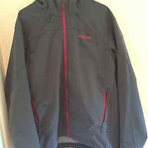 Patagonia Adze Softshell Hoody Jacket- Men's Xl Gray/red Photo