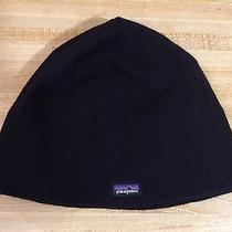 Patagonia Beanie Hat Solid Black Size One Photo