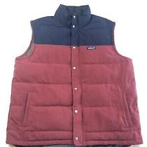 Patagonia Bivy Down Vest Maroon Navy Mens Xxl Photo