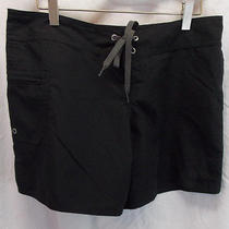 Patagonia Black Drawstring Front Hike Running Board Athletic Shorts Size 6 Great Photo
