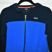 Patagonia Blue Black Hoodie Sweater Sz Xl Photo