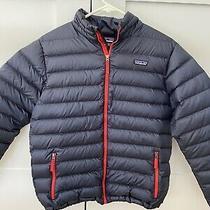 Patagonia Boys Down Sweater Insulated Jacket - Size Xxl / Kids 16-18.  Navy Blue Photo