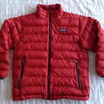 Patagonia Boys Duck Down Sweater Jacket Quilted Coat Red S Small 8 Photo