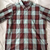 Patagonia Brown Western Cut Snap Button Shirt Photo