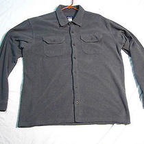 Patagonia Button-Up Fleece Gray Men's Casual Camping Shirt Xl Nice Photo