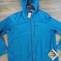 Patagonia Calcite Blue Goretex Mens Hooded Jacket Xxlarge Nwt 249 Photo
