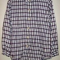 Patagonia Cotton Plaid Long Sleeve Button Blouse  Photo